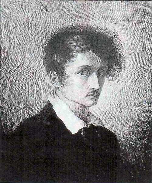 Людвиг Эмиль Гримм. Автопортрет. Офорт. 1815.